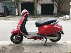 xe máy điện vespa nioshima màu đỏ cũ