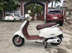 xe máy điện vespa nioshima màu trắng cũ
